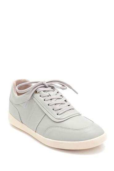Gri Kadın Deri Sneaker 5638291823