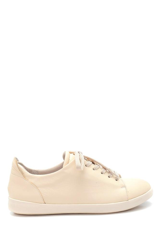 Bej Kadın Deri Sneaker 5638291842