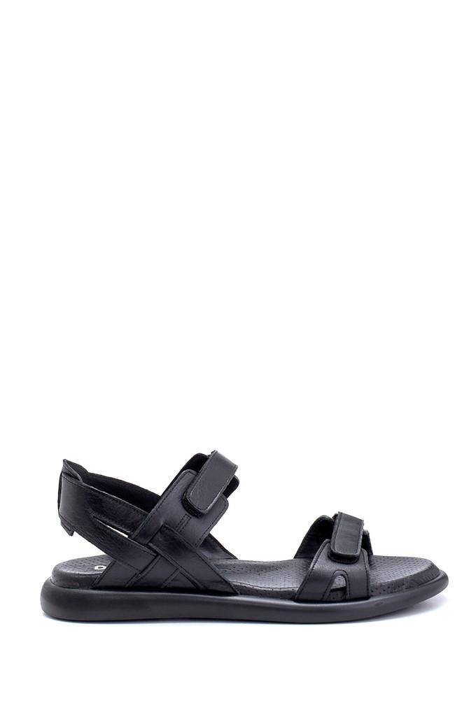 Siyah Kadın Deri Bantlı Sandalet 5638268398