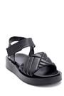 5638279359 Kadın Deri Bantlı Sandalet