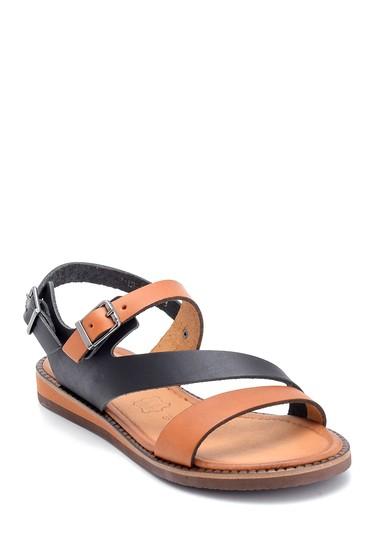 Siyah Kadın Deri Toka Detaylı Sandalet 5638301829