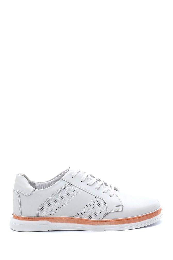 Beyaz Erkek Deri Sneaker 5638254686