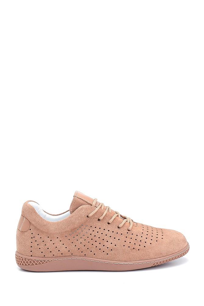 Kahverengi Kadın Süet Sneaker 5638284599