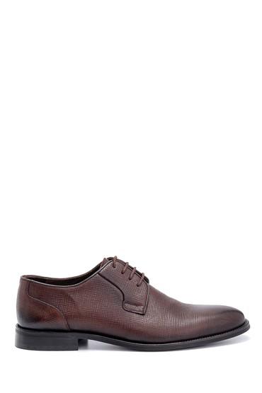 Kahverengi Erkek Deri Baskılı Klasik Ayakkabı 5638247546