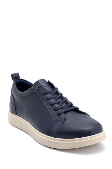 Lacivert Erkek Deri Sneaker 5638252477