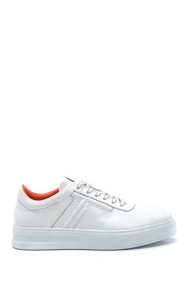 Beyaz Erkek Deri Sneaker 5638277127
