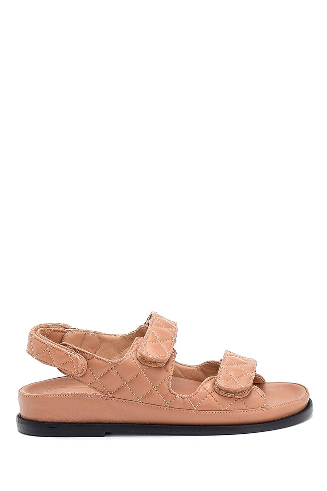 Bej Kadın Deri Sandalet 5638286904