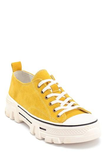 Sarı Kadın Süet Sneaker 5638292288