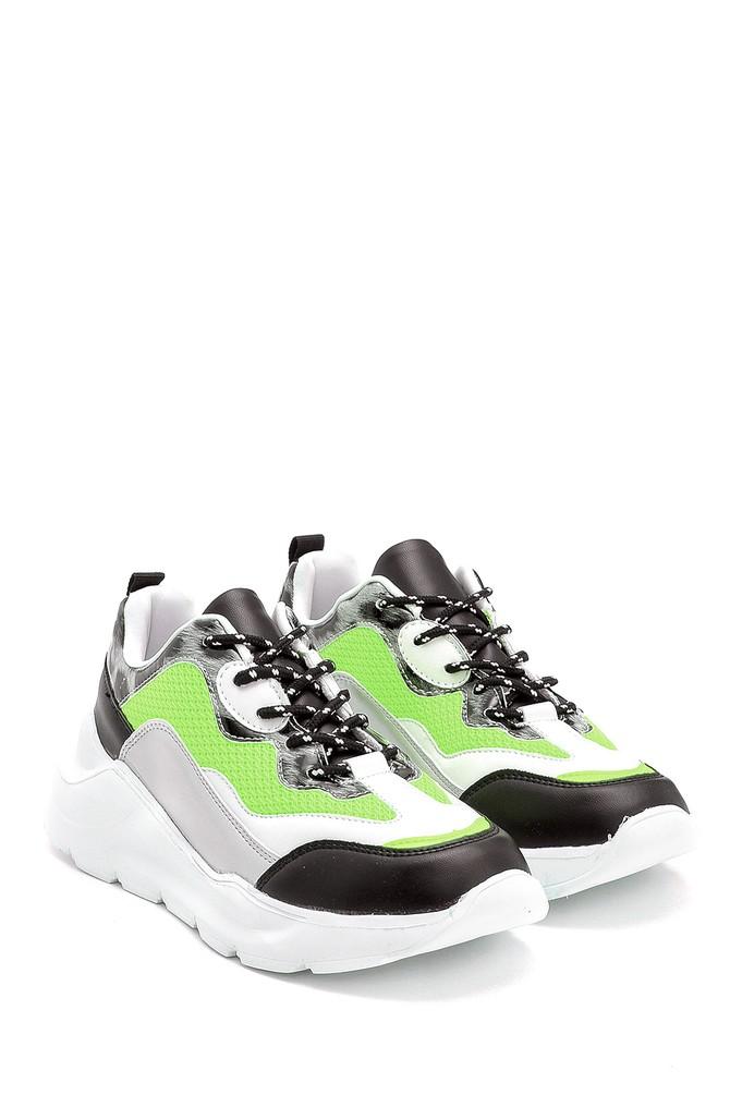 5638301236 Kadın Kumaş Detaylı Sneaker
