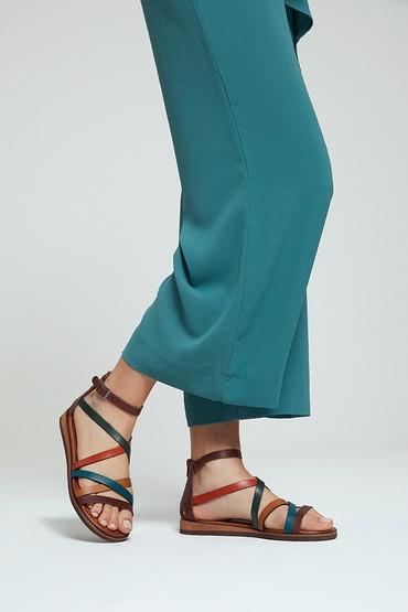 Multi Renk Kadın Deri Sandalet 5638274834