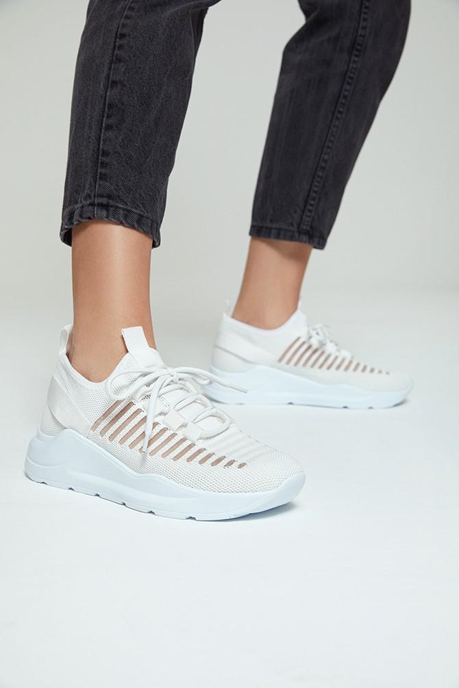 Beyaz Kadın Çorap Sneaker 5638273538