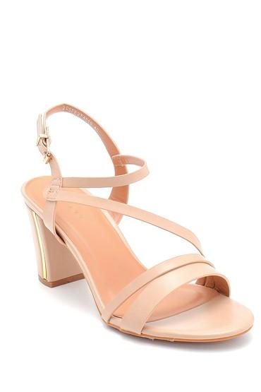 Bej Kadın Topuklu Sandalet 5638262515