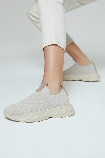 Bej Kadın Çorap Sneaker 5638291720