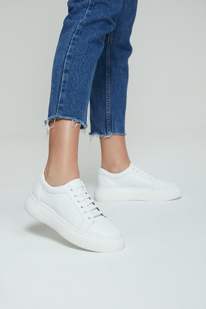 Beyaz Kadın Sneaker 5638292458