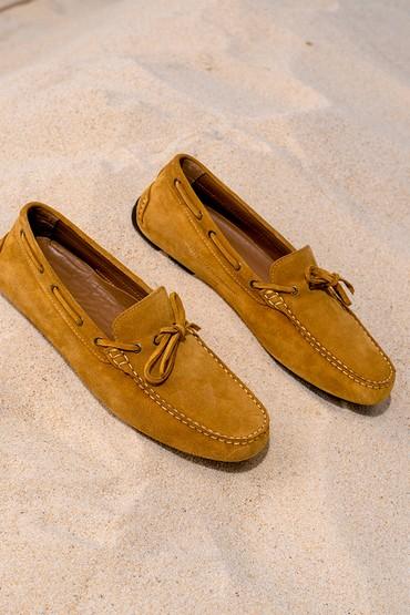 Sarı Erkek Süet Casual Loafer 5638265759