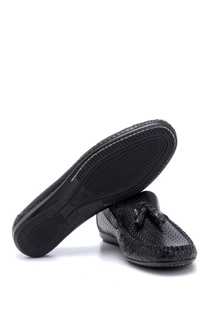 5638249678 Erkek Kroko Deri Püsküllü Loafer