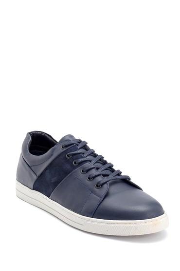 Lacivert Erkek Deri Sneaker 5638252409