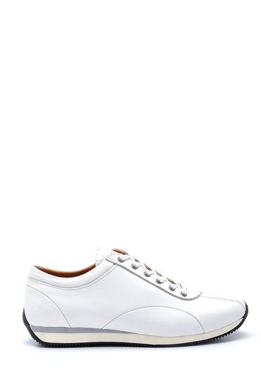 Beyaz Erkek Deri Casual Ayakkabı 5638273448