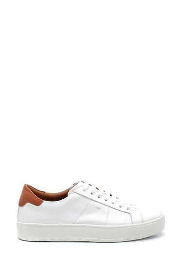 Beyaz Erkek Deri Sneaker 5638275640