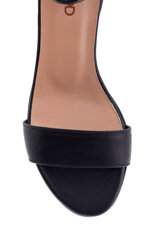 5638266360 Kadın Kısa Topuklu Deri Sandalet