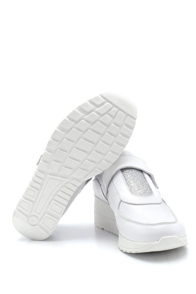 5638291423 Kadın Bantlı Deri Casual Ayakkabı