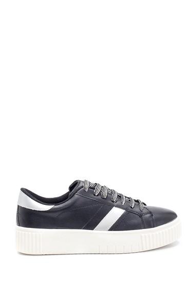 Siyah Kadın Şerit Detaylı Sneaker 5638294464