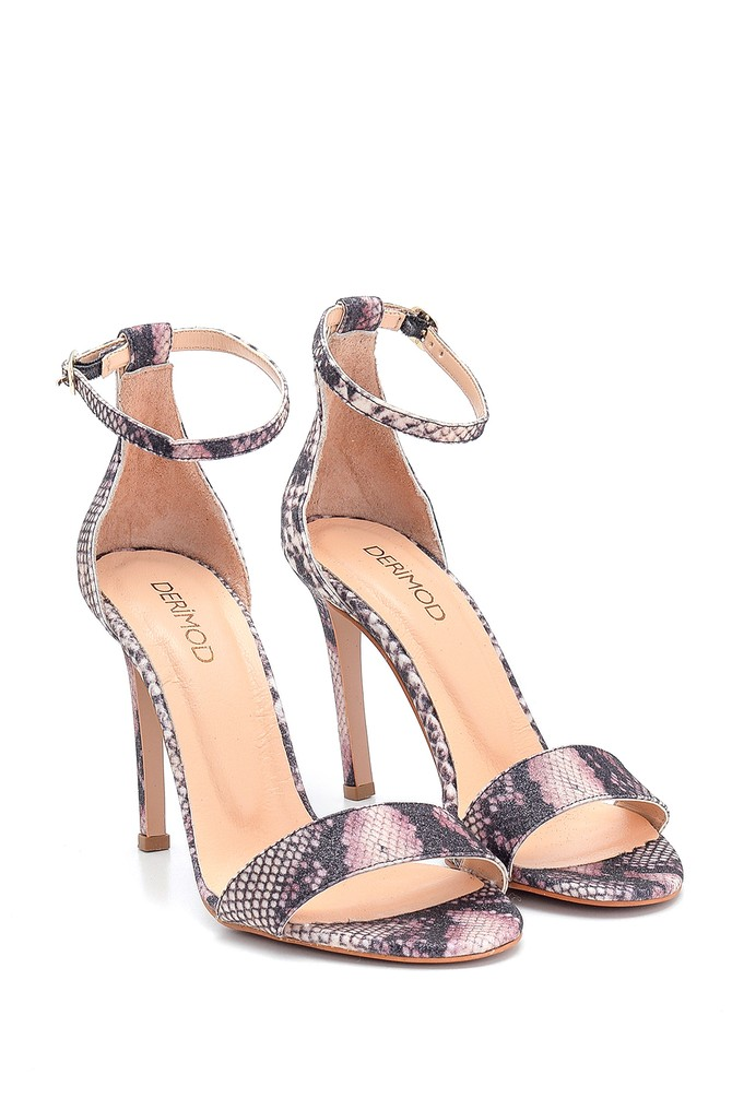 5638297479 Kadın Deri Topuklu Sandalet