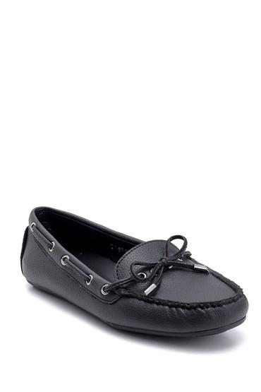 Siyah Kadın Fiyonk Detaylı Loafer 5638312526