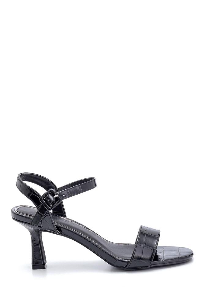 Siyah Kadın Topuklu Sandalet Ayakkabı 5638259086