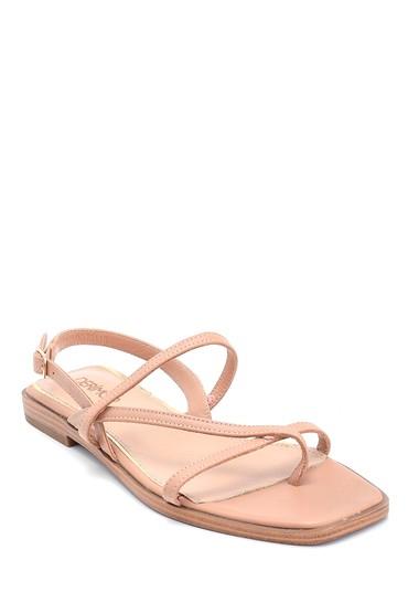 Bej Kadın Casual Deri Sandalet 5638266315