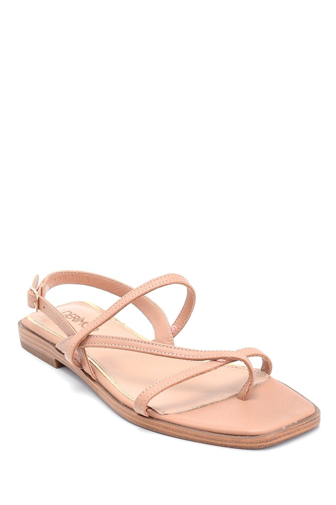 5638266315 Kadın Casual Deri Sandalet