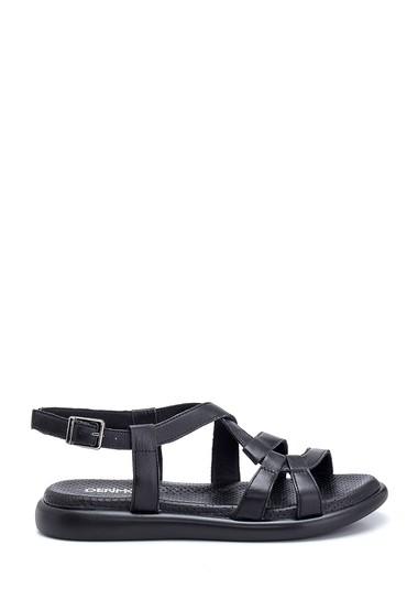 Siyah Kadın Deri Sandalet 5638268215