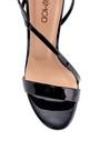 5638297434 Kadın Rugan Deri Topuklu Sandalet