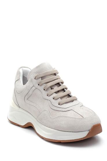 Gri Kadın Deri Sneaker 5638308773