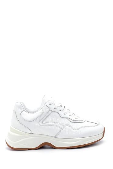 Beyaz Kadın Deri Sneaker 5638308783