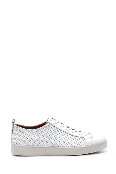 Beyaz Erkek Deri Sneaker 5638257906