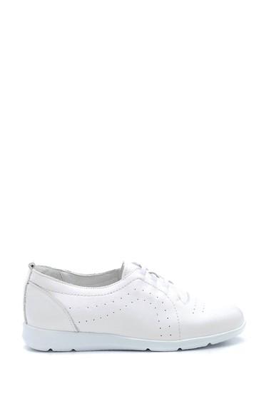 Beyaz Kadın Deri Sneaker 5638265661