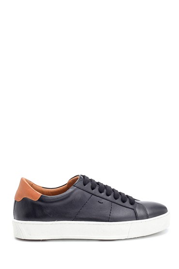 Siyah Erkek Deri Sneaker 5638275642