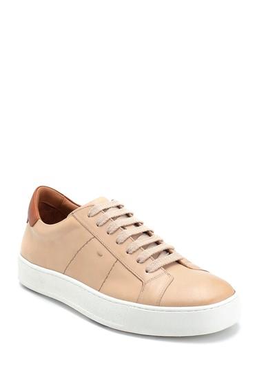 Bej Erkek Deri Sneaker 5638275641