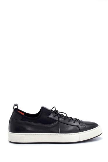 Siyah Erkek Deri Sneaker 5638277161