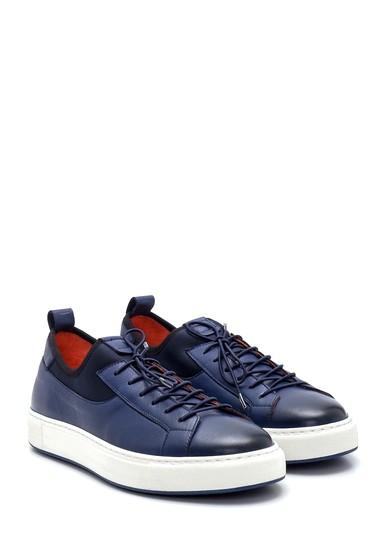 Lacivert Erkek Deri Sneaker 5638279382