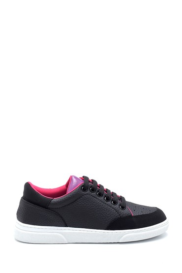 Siyah Kadın Renk Detaylı Sneaker 5638277384