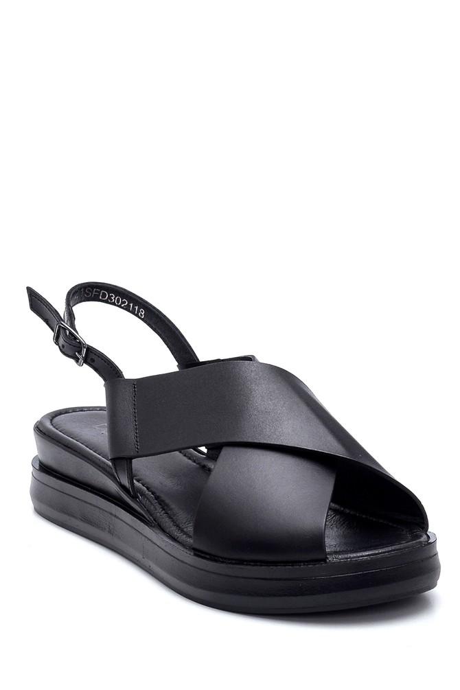 5638262049 Kadın Deri Sandalet