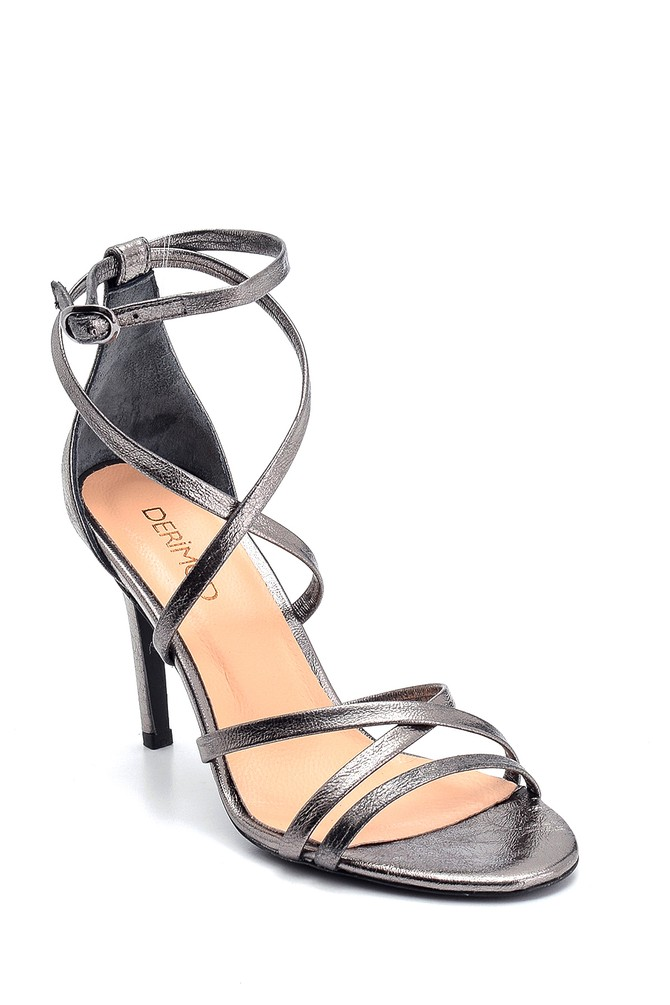 5638289124 Kadın Deri Yüksek Topuklu Ayakkabı