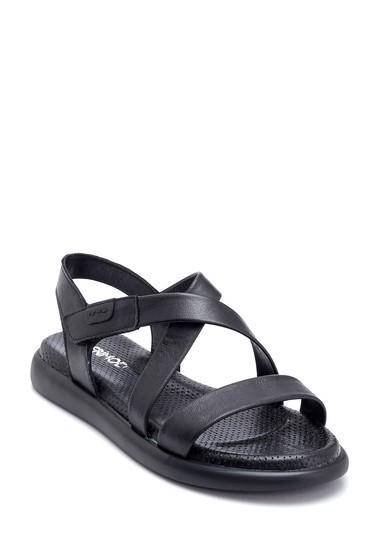 Siyah Kadın Deri Sandalet 5638268272