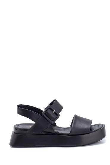 Siyah Kadın Deri Sandalet 5638306366