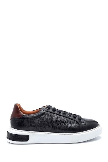 Siyah Erkek Deri Sneaker 5638277102