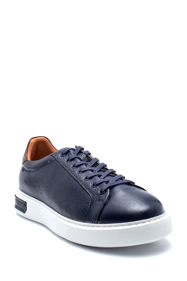 Lacivert Erkek Deri Sneaker 5638277100
