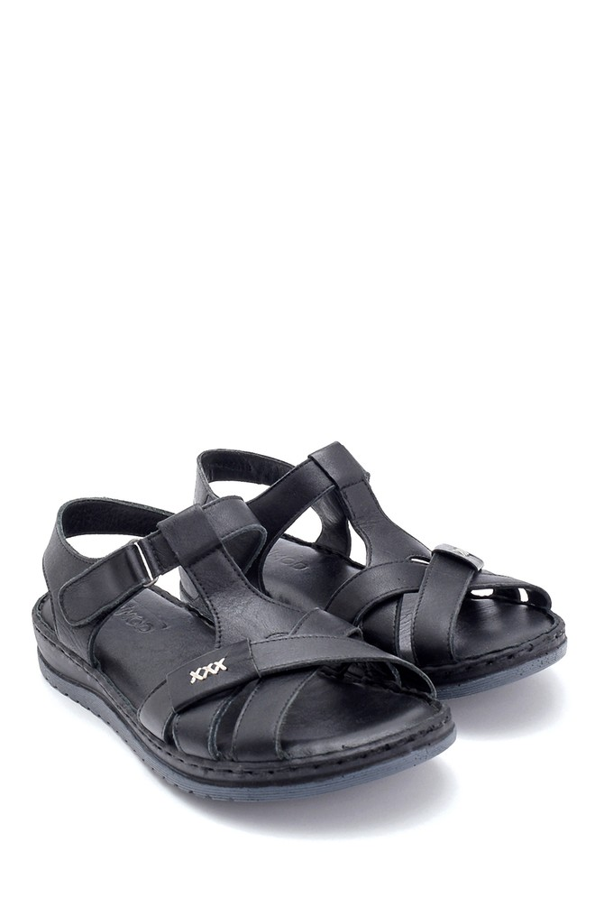 5638273672 Kadın Deri Sandalet