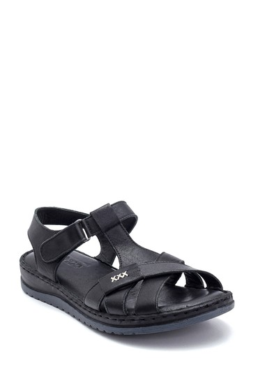 Siyah Kadın Deri Sandalet 5638273672